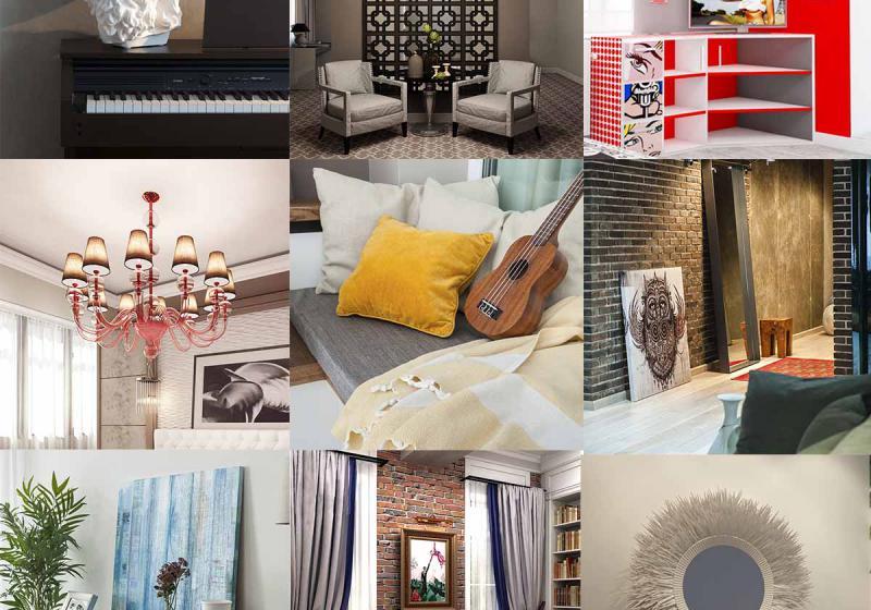 Декор интерьера комнаты
